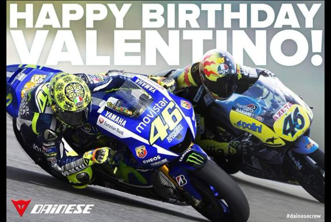 A massive HAPPY 40th BIRTHDAY to the one and only Valentino Rossi.