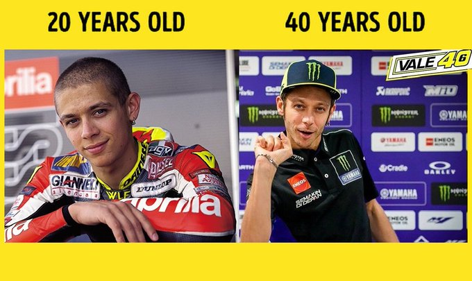 Live your life and forget your age.Happy birthday Valentino Rossi!Its not easy making 40 look this good