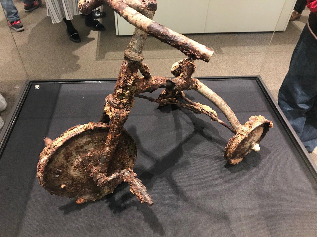 Ein Dreirad nach der Apokalypse am 6.8.1945 - aus dem Museum in Hiroshima https://t.co/BGznYWmQcV