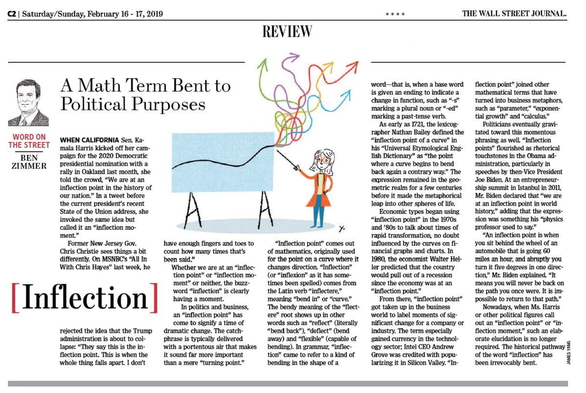 "test Twitter Media - In this weekend's @WSJ Review section: It's become popular to say that we're at an ""inflection point"" (or ""inflection moment"") in history. The word ""inflection"" is definitely having a moment. https://t.co/xvGPOxbqtn https://t.co/mVhsfn9Qv0"