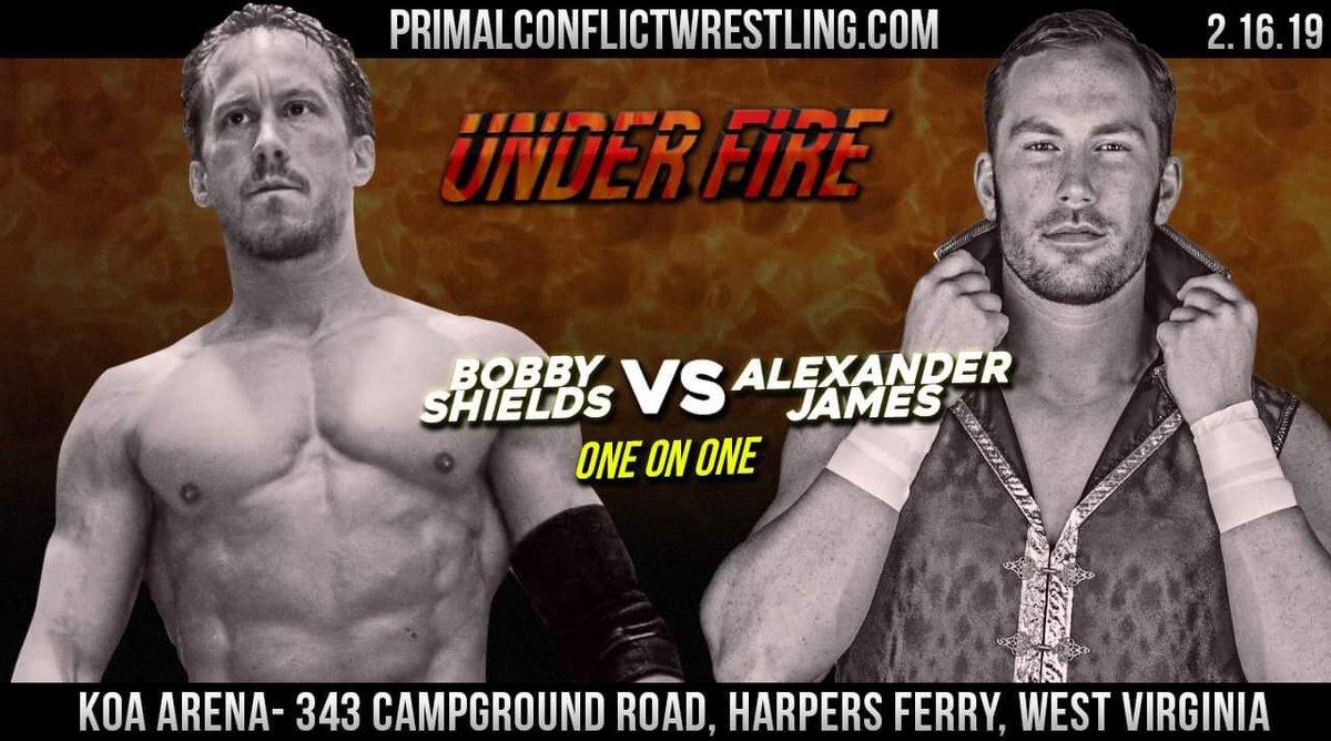RT @PrimalConflict: Tonight! #UnderFire Harpers Ferry WV @RealBobShields vs @PrinceOfPro https://t.co/qcbKCTziQy