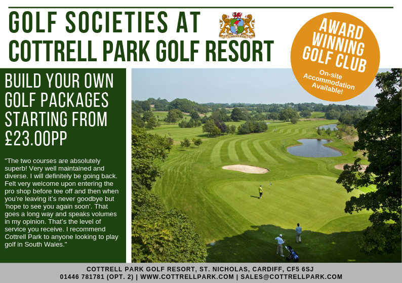 test Twitter Media - Society Golf Packages 2019⛳️  Book your Society Day with us and tailor your package to suit your Society Needs!  We can create a package based on your requirements.  E: sales@cottrellparkom  | T: 01446 781781 Opt2 https://t.co/GGnfntAlxs
