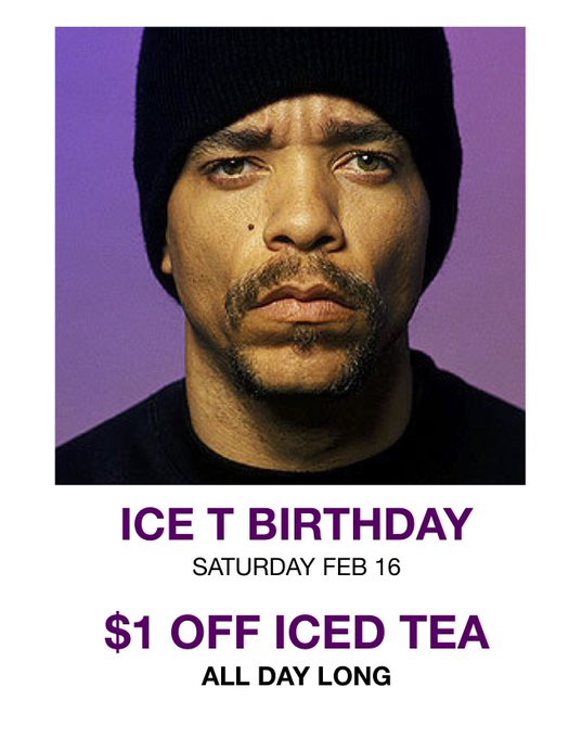 Happy Birthday Ice T! Enjoy this special ALL DAY LONG in his honor!