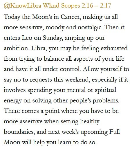 Daily Horoscope for #Libra 2.16.19 ♎❤️✨ #Horoscope #Astrology #TeamLibra #KnowTheZodiac https://t.co/vRLA7SmRPv