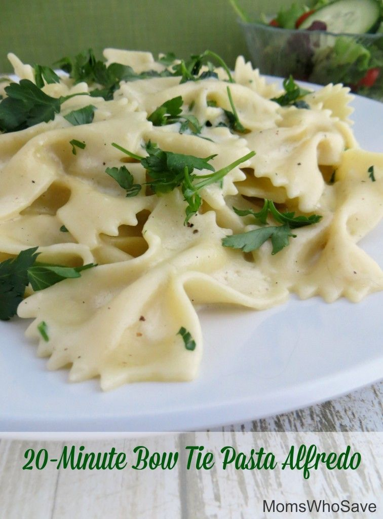 RT @MomsWhoSave: Try This Easy 20-Minute Bow Tie Pasta Alfredo!  >>   #recipes