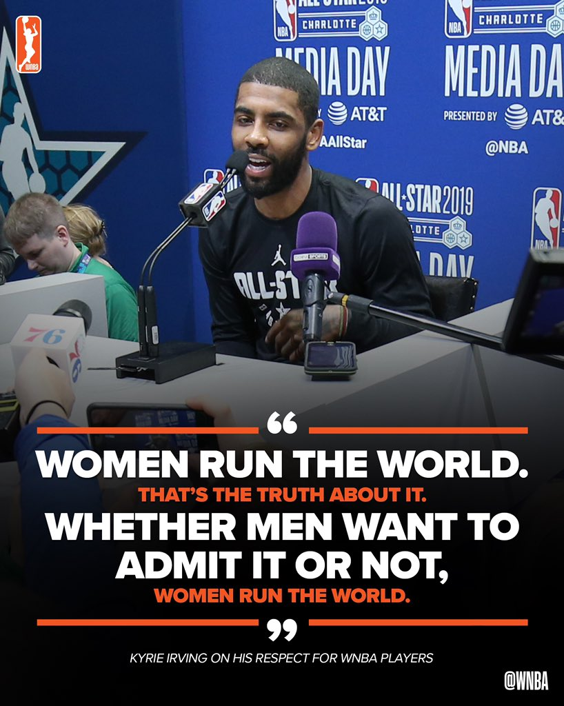 RT @WNBA: Kyrie knows what's up 🙋♀️👑 #NBAAllStar https://t.co/s1WjZV917g