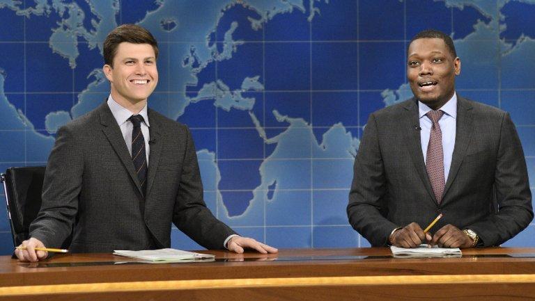"""'SNL': """"Weekend Update"""" takes on Ryan Adams and R. Kelly allegations in one joke"""