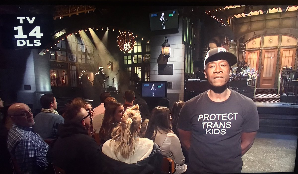 RT @allanbrocka: Thank you Don Cheadle for using your platform to help save lives. ????️‍????❤️ #ProtectTransKids #SNL https://t.co/XOGsr44h6N