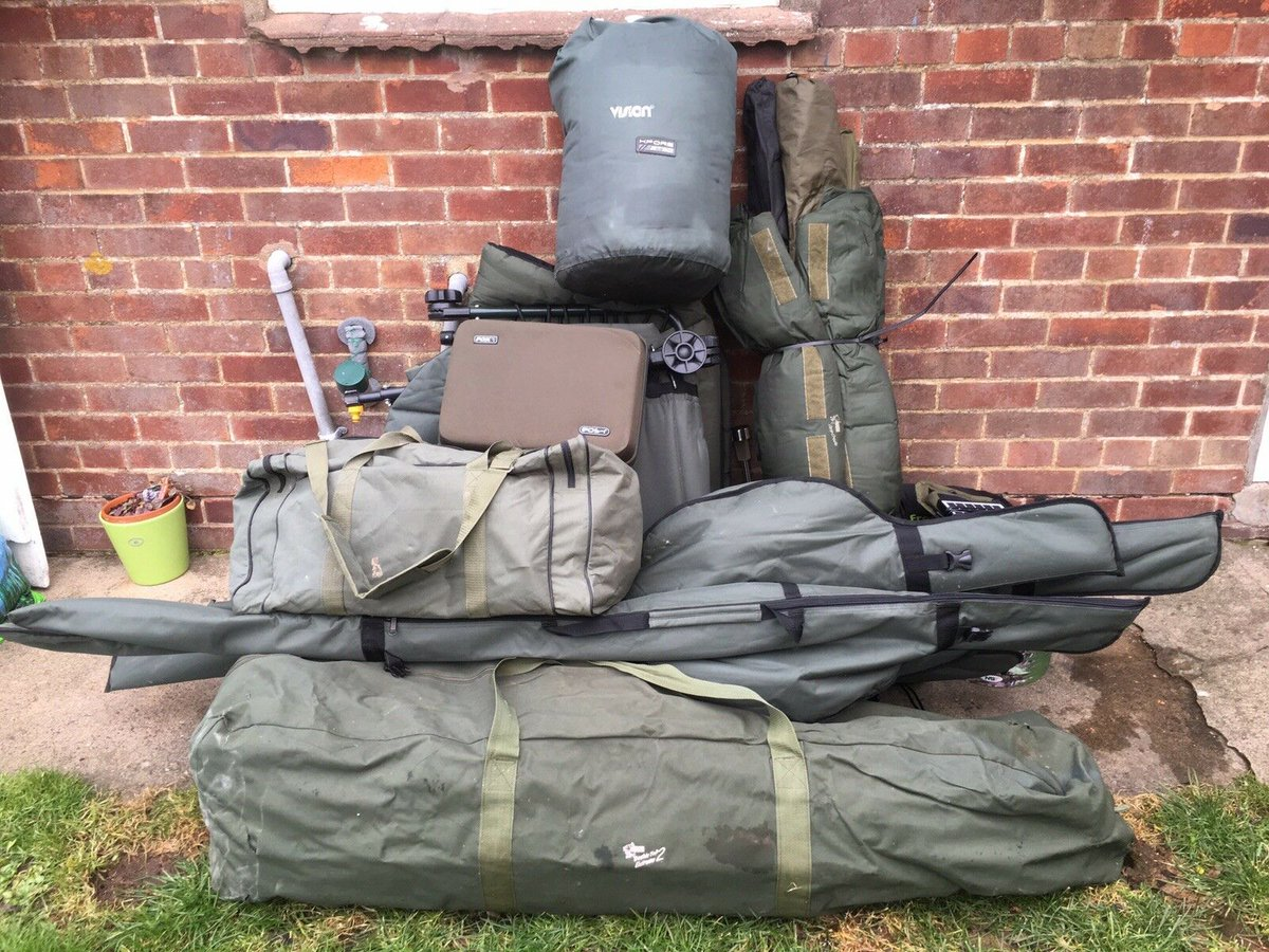 Ad - On eBay here --&gt; https://t.co/pgiQUd0Ph2  Full <b>Carp</b> fishing set up for sale  #<b>Carp