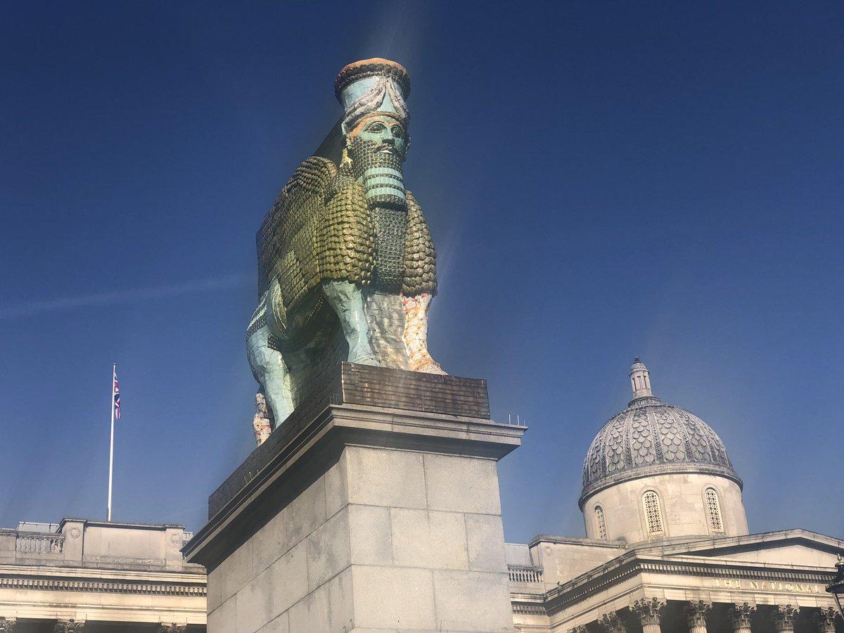 Lamassu in London #fourthplinth #london #art #iraq #assyrian https://t.co/ssx80iGRxZ