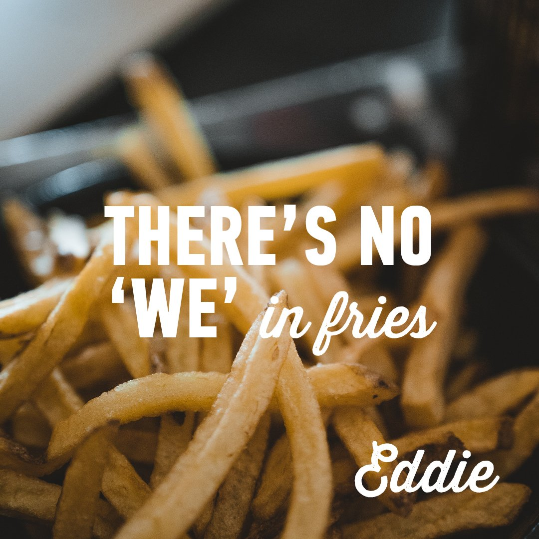 Gotta look after No.1!!  #fries #eddieinmybelly #weekendvibes https://t.co/Dtud89pQb4