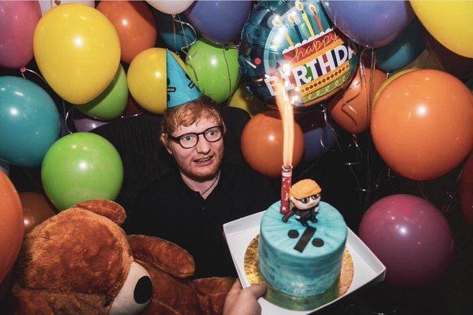 Happy birthday Ed Sheeran    / .