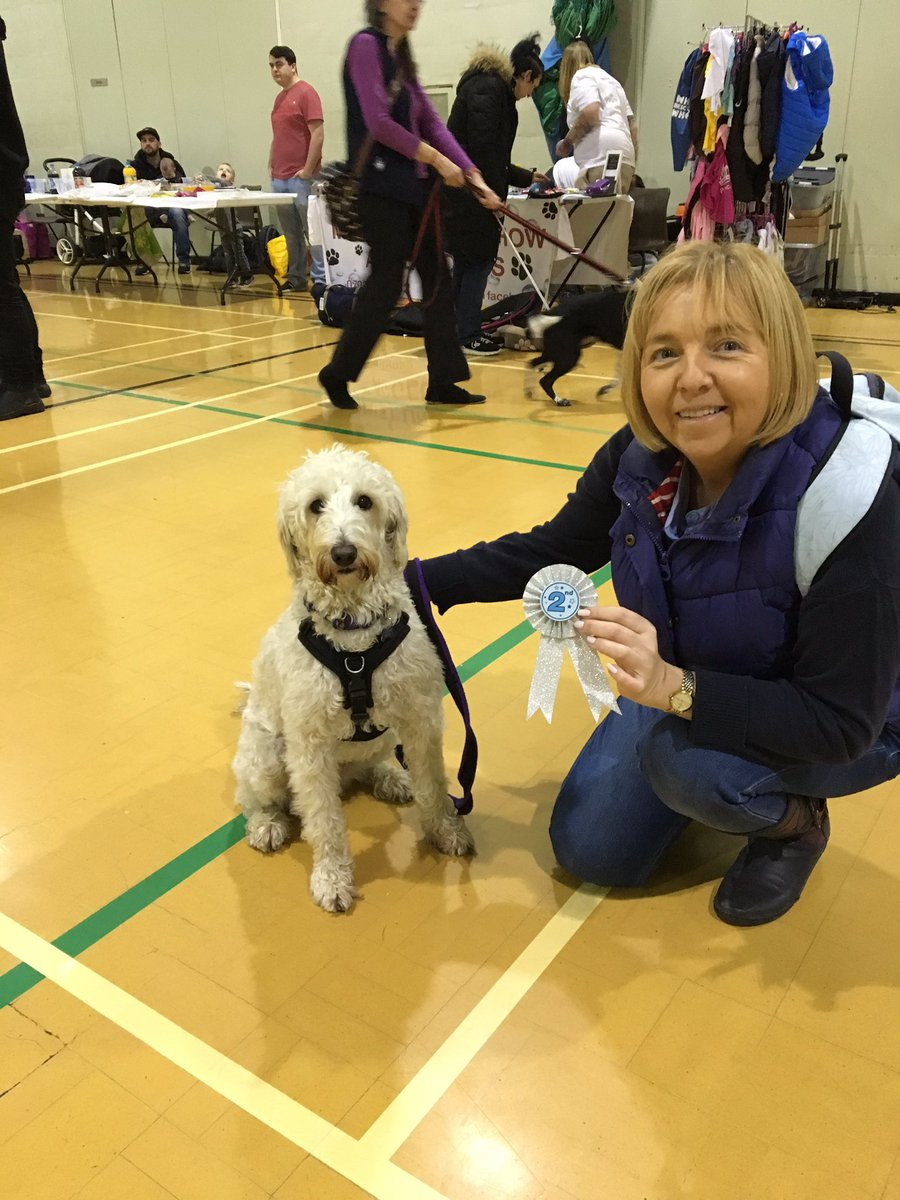 test Twitter Media - Well done Daisy. 2nd place in 'Best Cross Breed' and 3rd place for 'Prettiest Eyes'. Lots of competition too at this charity 'fun' dog show. https://t.co/yA2WzZjzAQ