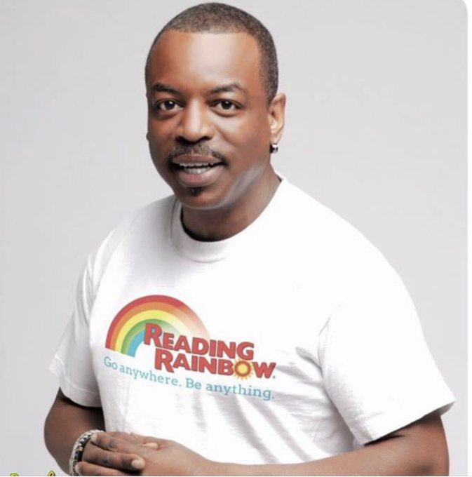 Happy Birthday To Levar Burton. Thanks for inspiring me to read when I was a child.