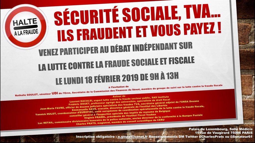 RT @UC_Senat: #Débat La lutte contre la fraude sociale et fiscale, organisée par @senateur61
