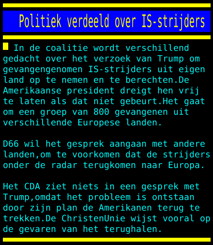 test Twitter Media - Politiek verdeeld over IS-strijders https://t.co/sjdUQxEiFX