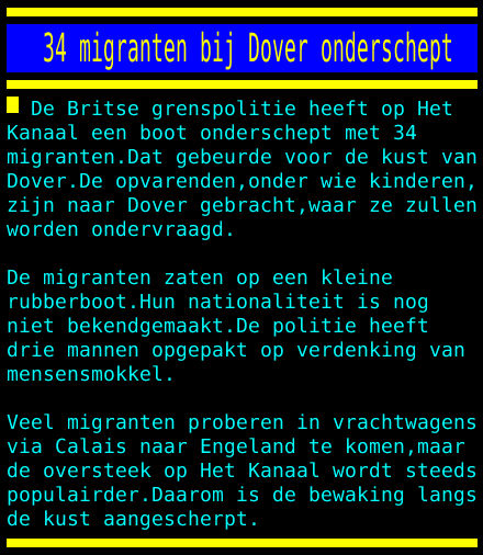 test Twitter Media - 34 migranten bij Dover onderschept https://t.co/HernrpgiXR