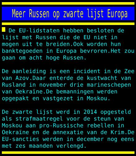 test Twitter Media - Meer Russen op zwarte lijst Europa https://t.co/ompn2PGgkT