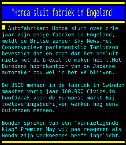 "test Twitter Media - ""Honda sluit fabriek in Engeland"" https://t.co/UF6C2uqsGo"