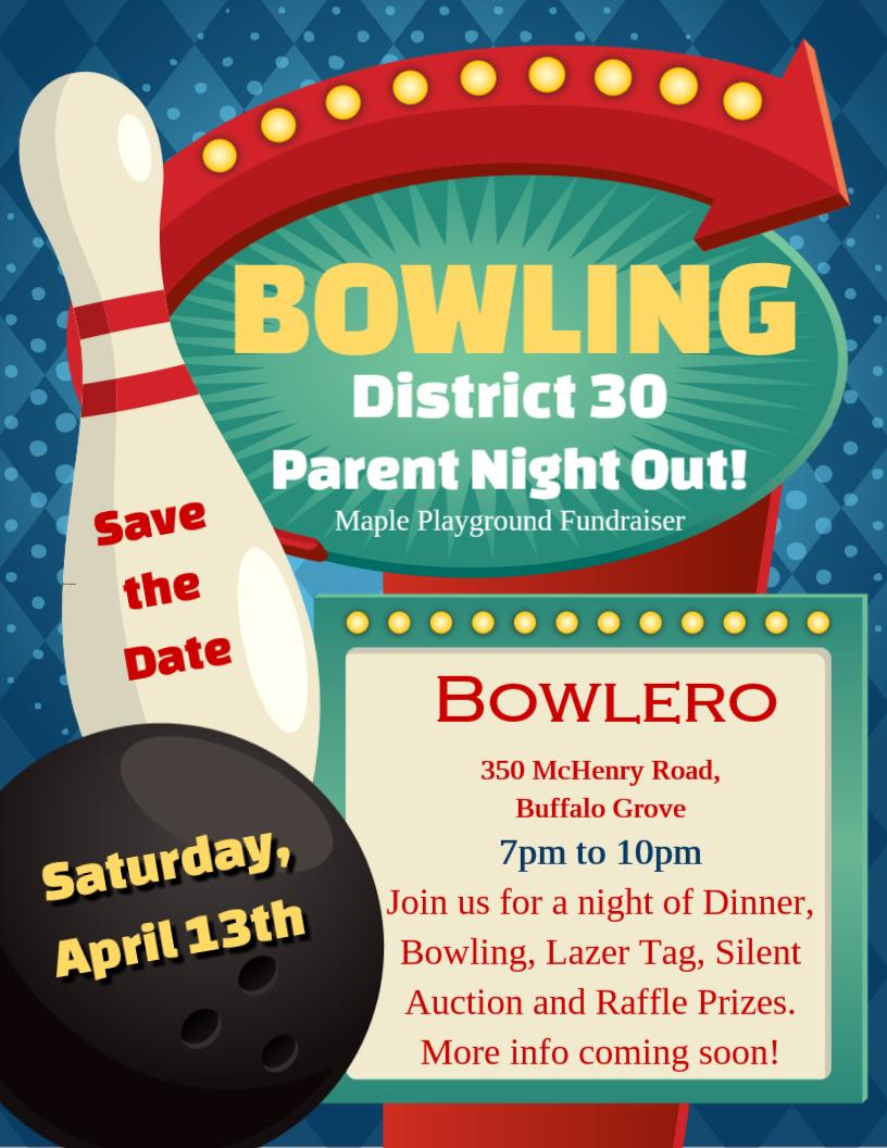 test Twitter Media - Save the date...Maple, Wescott, & Willowbrook School PTOs joined together to host & support a fundraiser for the new Maple School All Abilities Playground. It will take place from 7-10 p.m., Sat., April 13 @ Bowlero in Buffalo Grove. https://t.co/r501SSa1P1 #d30learns https://t.co/77u0fec5Mt