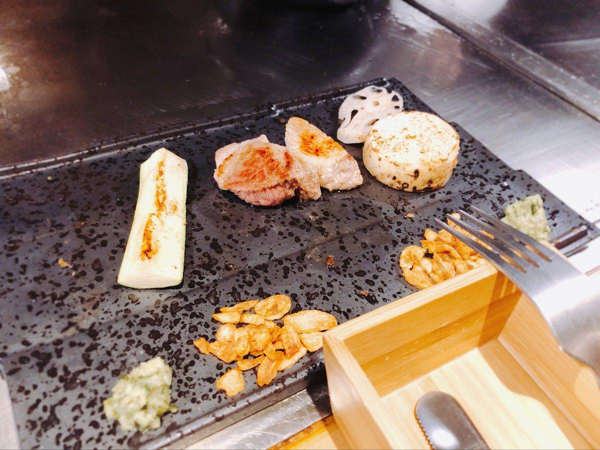 test ツイッターメディア - 人の金で食べる鉄板焼き最高でしたね 牡蠣の鉄板焼きと、和三盆のパンナコッタがほんとにやばい https://t.co/HSUBHYeEub