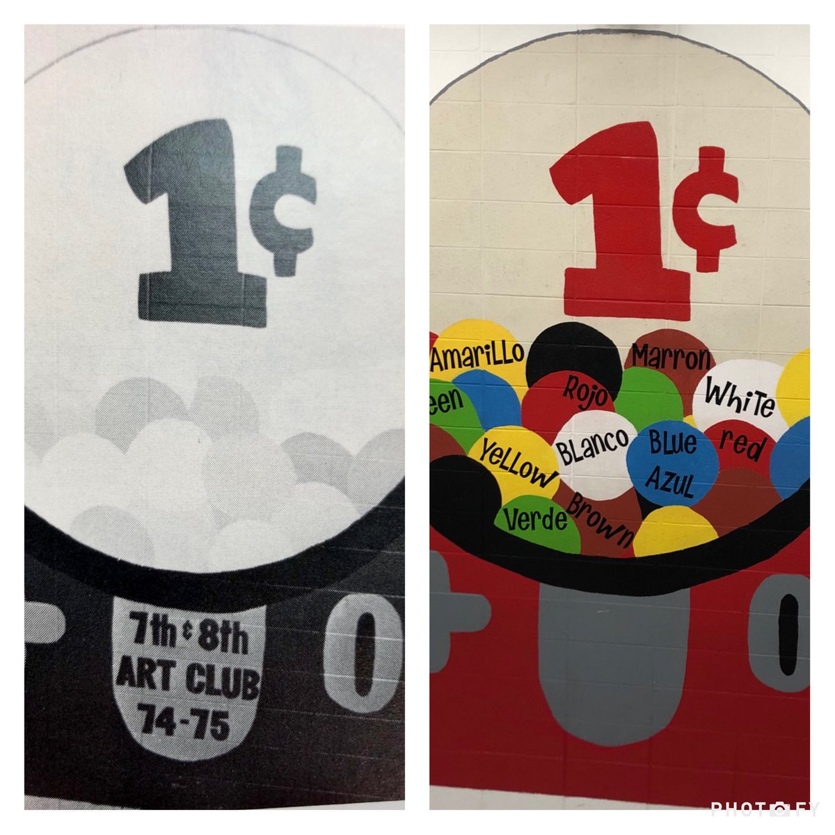 test Twitter Media - Did you know the gumball machine mural was first painted by the 1974 Art Club? #d30learns https://t.co/Cv5ntJeHnR