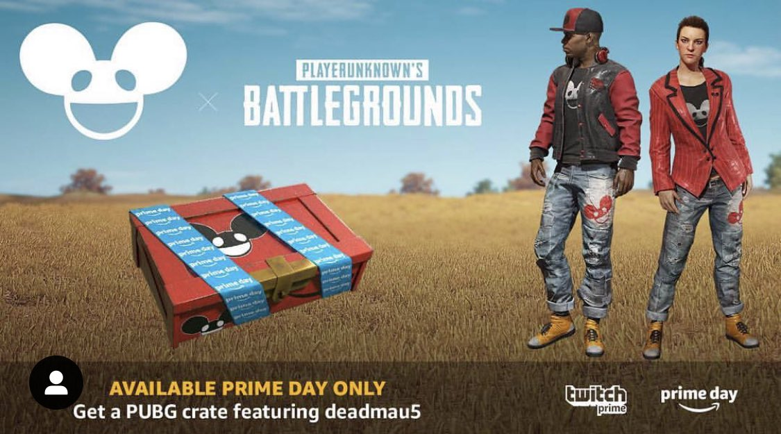 test Twitter Media - Last year I teamed up with @twitchprime to create something very special for #primeday.  Together, we worked close to create in-game @deadmau5 skins for @pubg followed up by a celebrity pro-am event in DTLA with a live show from mau5, tag a friend who got this crate! https://t.co/9T5wDfW6a5
