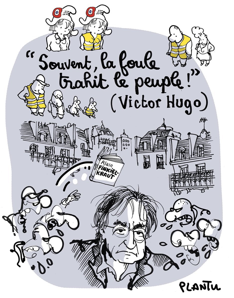 RT @plantu: « Souvent, la foule trahit le peuple! »  Victor Hugo  (Le dessin de L'Express)