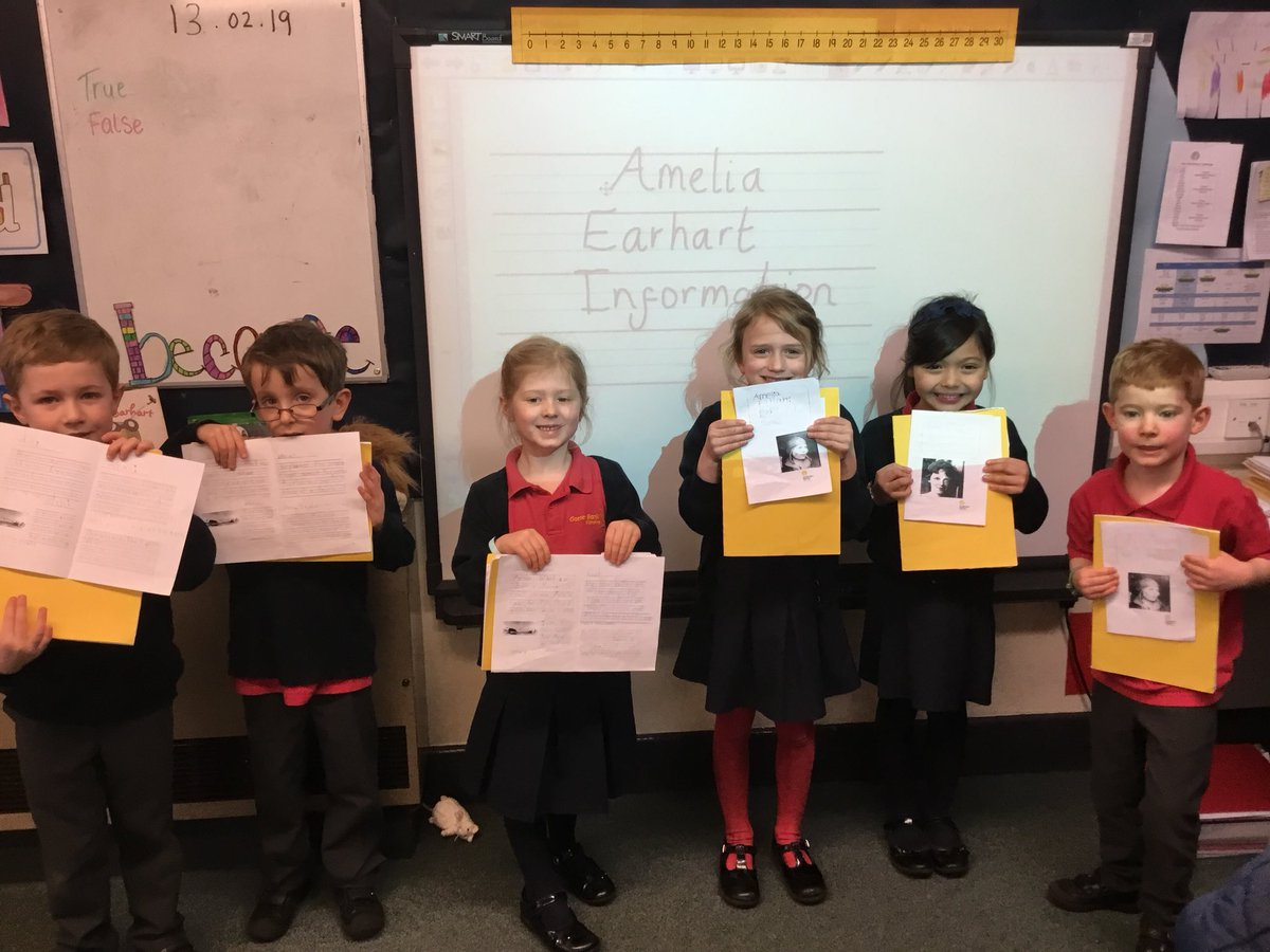 test Twitter Media - Superb writing outcomes by these little super stars ⭐️#gorseyenglish #gorseyhistory.  We ❤️Amelia Earhart and that she embraced her lion inside to achieve great things for women! 🛩👩🏽✈️ https://t.co/h6NvEQvscc