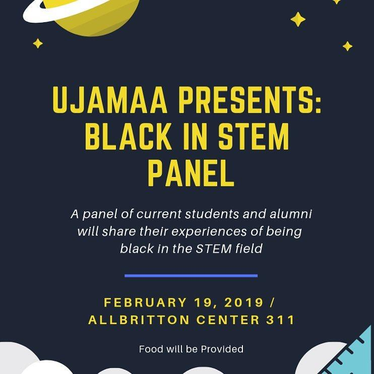 test Twitter Media - In an effort to support black students interested in #STEM, Ujamaa will host a panel tonight featuring black students & alumni,to share experiences being black in STEM fields, and advice on how to succeed. 7-9pm Allbritton 311: https://t.co/vZp8H5CM9U #BlackHistoryMonth https://t.co/UNapOuTIZB