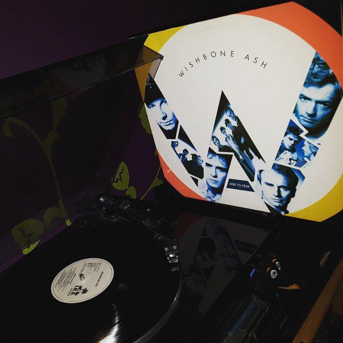 Happy Birthday Andy Powell *69*! Wishbone Ash - Here to hear (I.R.S. Records/1989)