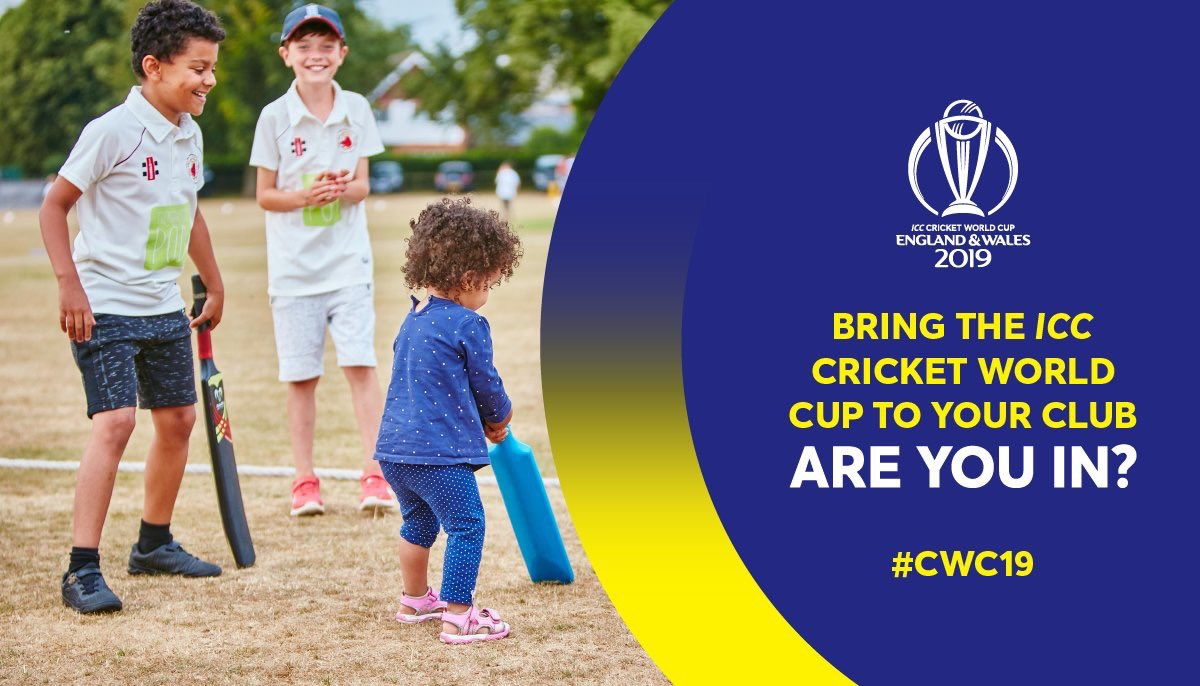 test Twitter Media - 💯 days to go until the @cricketworldcup starts!  Your club still has a chance to receive £1000 to improve social spaces or digitise your clubhouse  Congratulations to the 29 clubs who have received offers already 💸💪  Are you in? ➡️ https://t.co/aOGV6LpTsO  #CWC2019 #AreYouIn https://t.co/RNRxJu3RJe