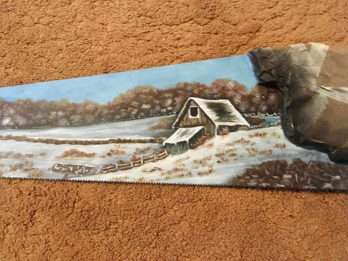 test Twitter Media - Winter #VintageHandsaw Farm For Sale #oilpainting #miniaturelandscape #metalart #vintagecollectible #homedecor #wallhanging #fathersday #giftidea   https://t.co/RcOuTfncqr  https://t.co/oQlhADiB2y