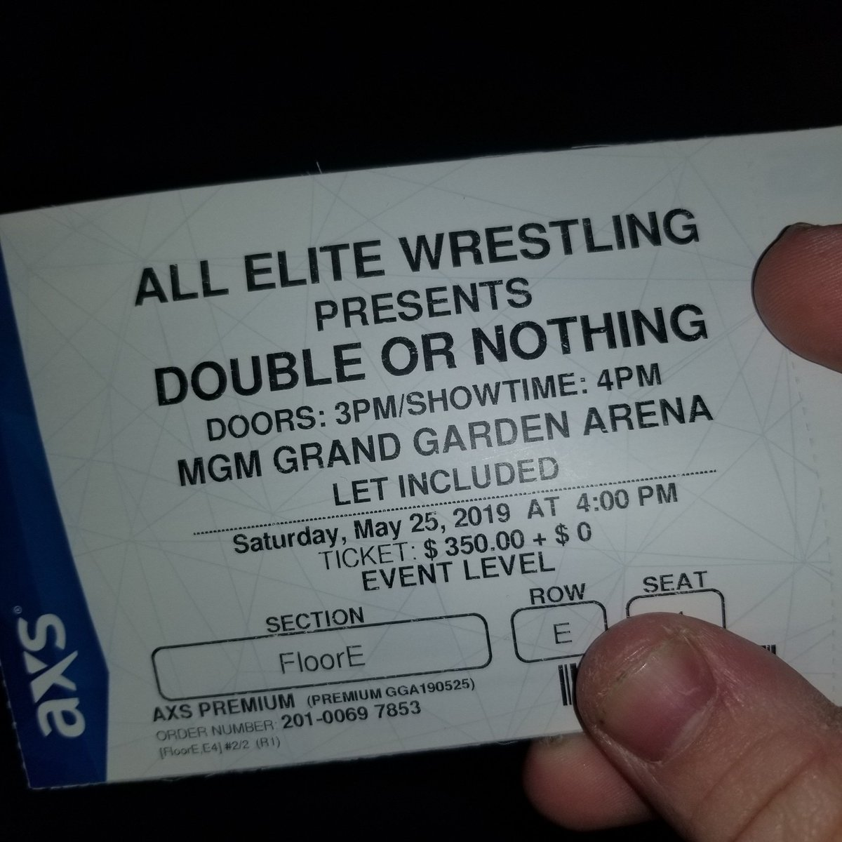 Look what came today my #DoubleOrNothing  tickets  @AEWrestling  #ThisIswrestling  can not wait https://t.co/yLhYhXkphs
