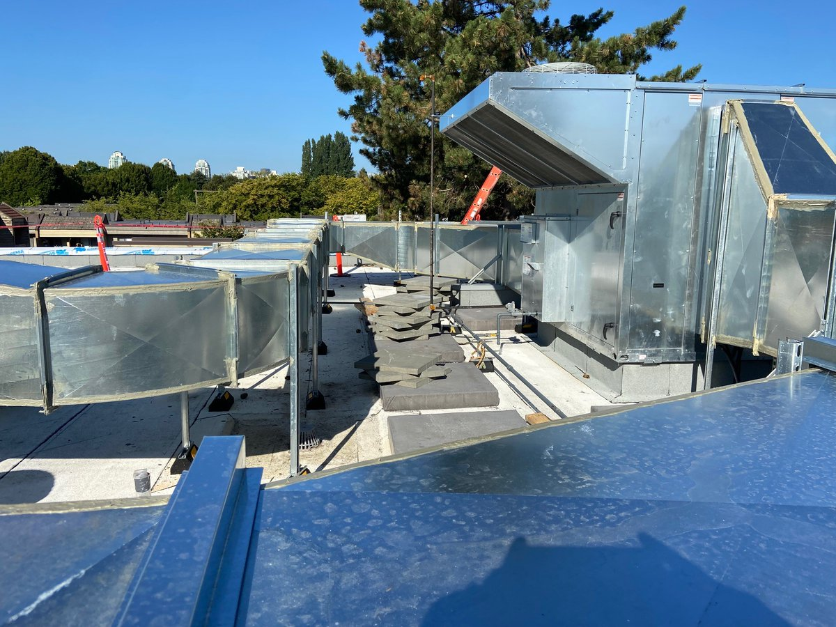 test Twitter Media - To some they see mountains and blue sky, others appreciate the craftsmanship of sheet metal! Why do we roof screen this work of art anyways? #VillaCathyCareHomeVancouver #TerraHousing #JYWArchitecture #DixonHeatingandSheetMetal https://t.co/klNKQ6gdKc
