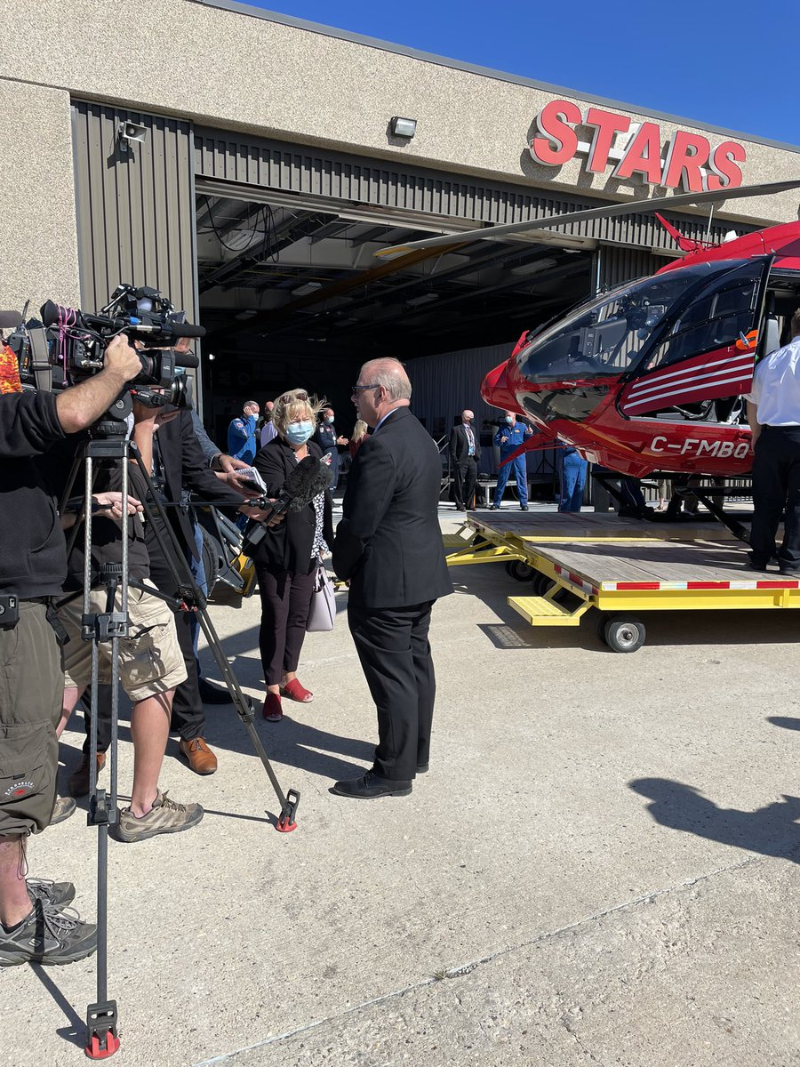 test Twitter Media - Was great to be at STARS today as they received their new air ambulance helicopter. Thank you @STARSambulance for being there for Manitobans throughout the province. https://t.co/ndLb9qijPO