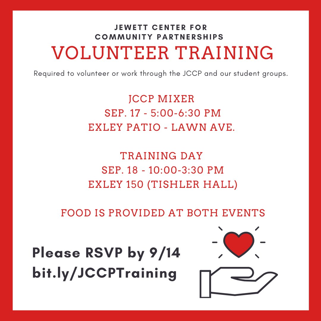 test Twitter Media - .@wesleyan_u students planning on working / volunteering with our JCCP community service student groups - attend our JCCP Volunteer Training on 9/17 + 9/18!   RSVP: https://t.co/eicLlZhv45 https://t.co/b67Ctz7YJw