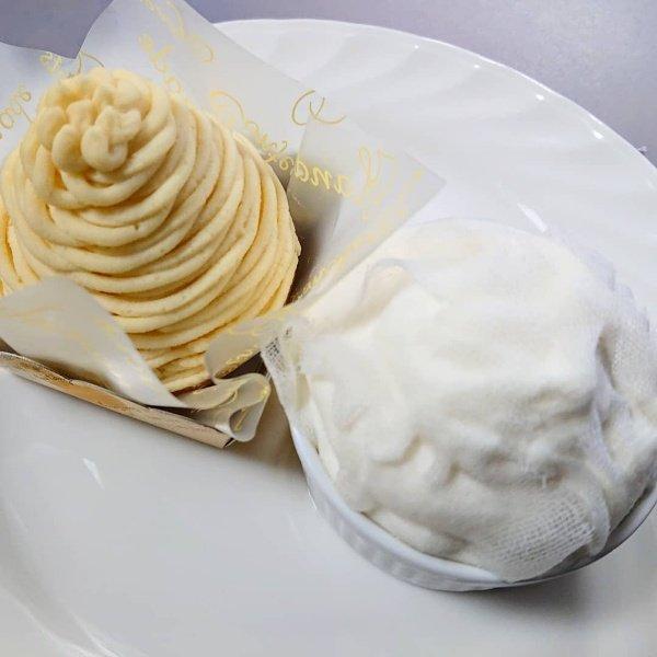 test ツイッターメディア - 横浜市栄区小菅ヶ谷「シェ・ツバキ」さん! 「クレームダンジュ」「モンブラン」をいただきました🍰  本郷台駅前のパティスリー🎂 ケーキも焼き菓子もたくさん!  2つともバランスよく、甘さも落ち着いていてペロッと平らげました🥰  今日はケーキ屋さん各店で母の日ケーキがたくさん❣️楽しみー🎵 https://t.co/z2mFNidCUQ