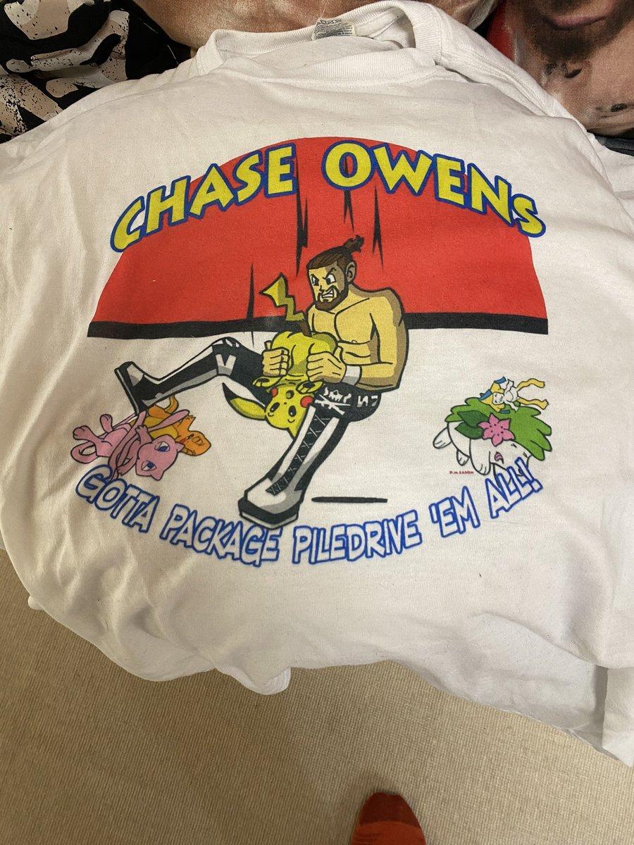test ツイッターメディア - 謎のTシャツが出てきた😎  多分大学生の時に新日本見に行く時にチェーズオーエンズから買ったと思われる(^_^) https://t.co/XPYrrw9AJq