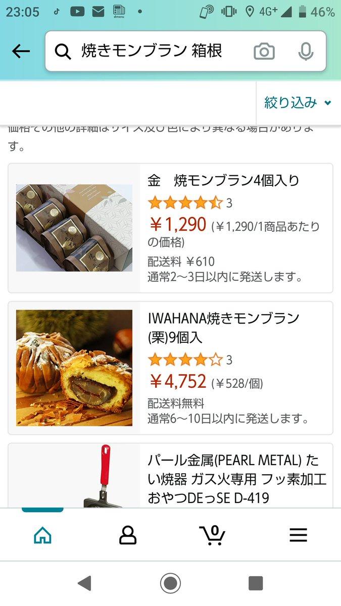 test ツイッターメディア - @Atsu_min1027 教えてくれてありがとう😊✨   お店違うけど…箱根の焼きモンブランあったから買ってみる✨ https://t.co/x6eenHBLF2