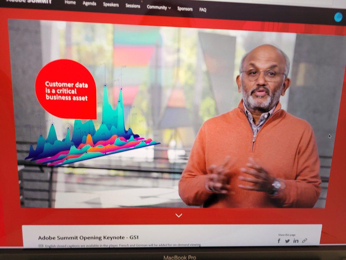 24Notion: Keynote: Personalization will drive growth ~ shantanu Narayen #AdobeSummit #24NotionMedia https://t.co/OhRF50WNva