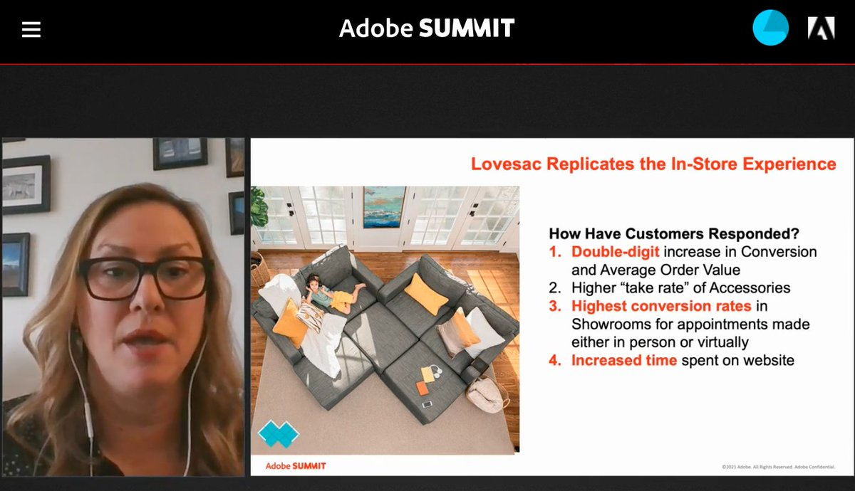 blueacornici: How have @Lovesac customers responded to the showroom experience being brought online? 🤯⬇️ #AdobeSummit @AdobeSummit https://t.co/na7i0vdJYv