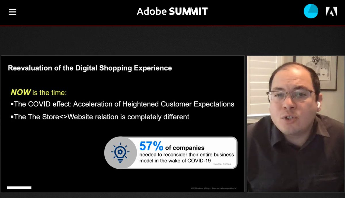 blueacornici: DYK: 57% of companies needed to reconsider their entire business model in the wake of #COVID19 #AdobeSummit https://t.co/NmdCoOdV3T