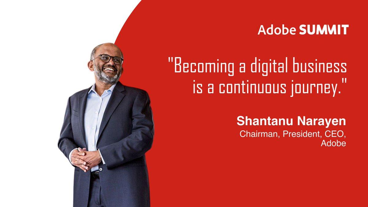 Ross_Quintana: 'Becoming a digital business is a continuous journey.' Shantanu Narayen, Adobenn#AdobeSummit #AdobeInsiders https://t.co/mJlysIjg1g