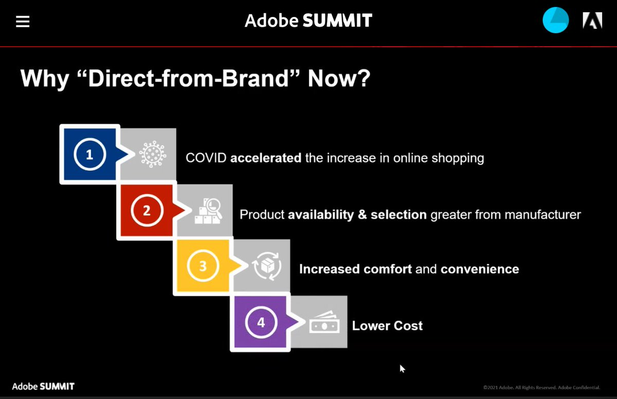 blueacornici: Why has #directtoconsumer surged in the past year? #adobesummit @AdobeSummit #dtc https://t.co/FtY6s6paIr