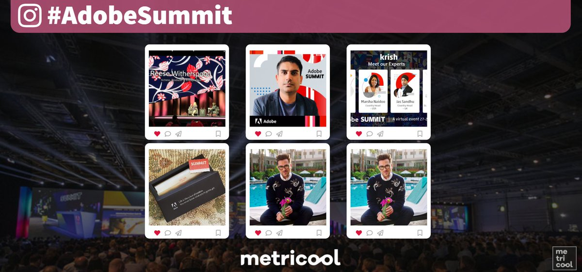 Metricool: @Adobe These are the most representative photos of the #AdobeSummit that have been shared so far today 💥📸 https://t.co/kvNs0Ic2FY
