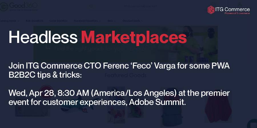 ITG_Commerce: Visit our virtual booth, for some PWA tips and tricks.nn#adobesummit #pwa #magento #colaboration #covid https://t.co/26RYEdBPqr