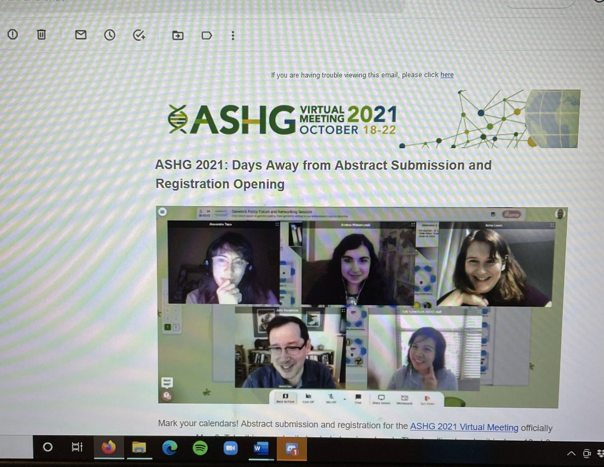 test Twitter Media - CWRU postdoctoral @ARWaksmunski is in my inbox reminding me to get my @GeneticsSociety abstract ready for #ASHG21! https://t.co/kE7hqB4nuR