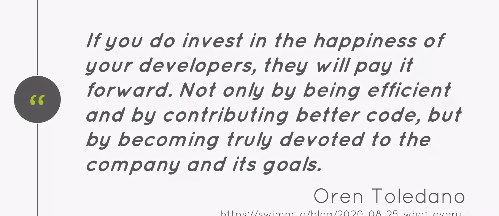 brentwpeterson: Invest in the happiness of the developer and they will pay it forward.nn@avstudnitz #MAConnect #AdobeSummit https://t.co/XL6j9igMHH