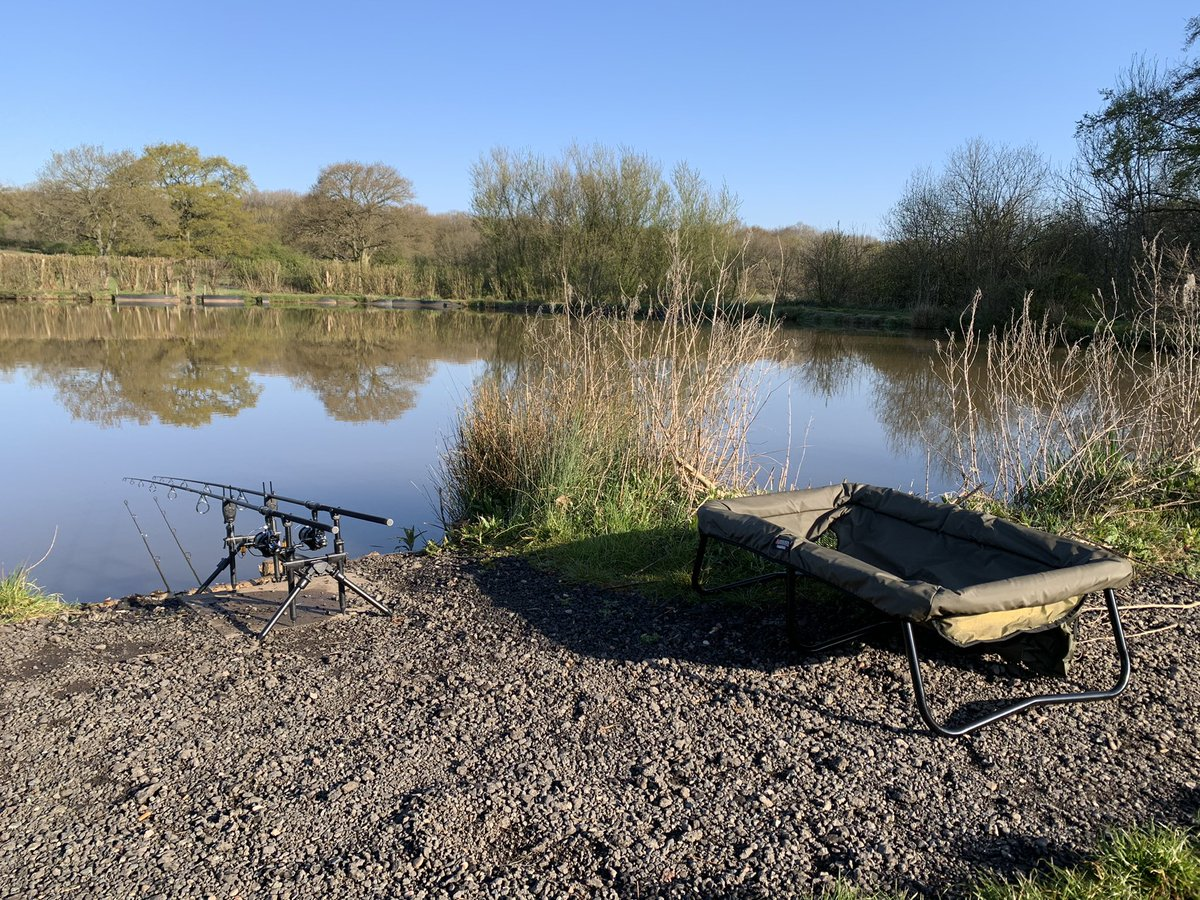 rods are out and the kettles on time to sit back and relax <b>🎣</b>  #carpfishing #fishing #carpl